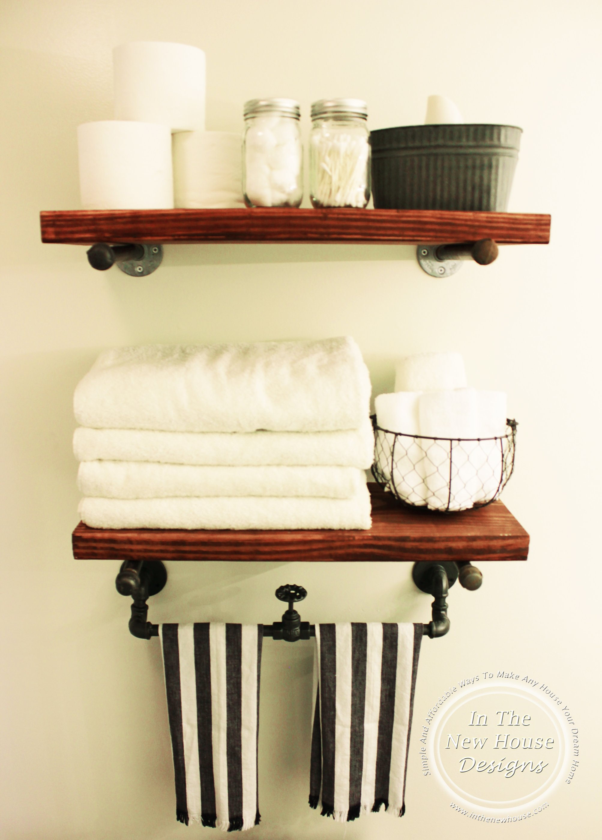 DIY Industrial Farmhouse Shelving In The New House Designs