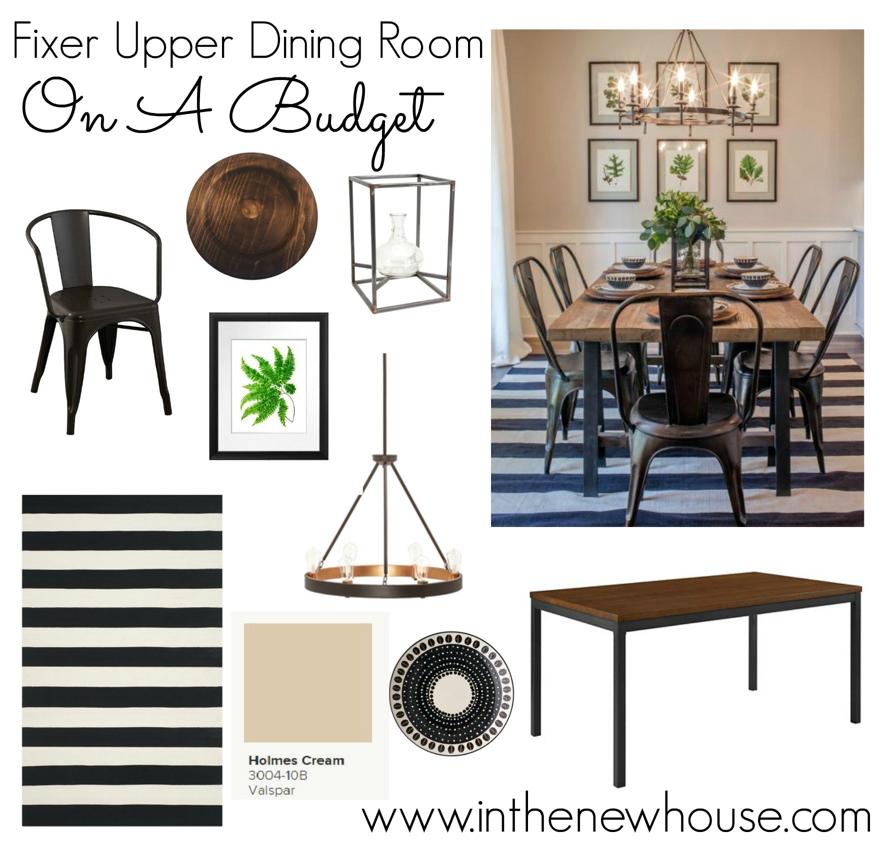 Get the fixer upper look for half the price in the new house for Fixer upper dining room ideas